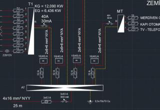 2 Katlı Binanın Elektrik Tesisatı Projesi